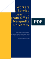 Student Workers in the Service Learning Program Office at Marquette University