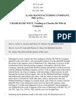 Cumberland Glass Mfg. Co. v. De Witt & Co., 237 U.S. 447 (1915)