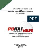 Trend Corruption Report Pukat Tahun 2009