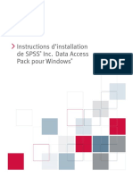 SPSS v 17 SPSS Inc. Data Access Pack Installation Instructions -French