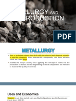Metallurgy and Ore Production