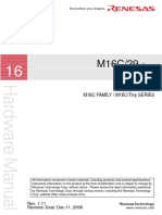 Renesas M16C/29 Hardware Manual