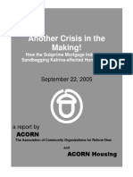 (2005) Another Crisis in the Making - Mortgage Servicing and Katrina
