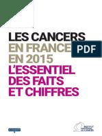 Les cancers en France - Edition 2015 - Faits Et Chiffres