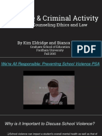 violence   criminial activity- ethics