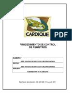 Procedimiento de Control de Registros