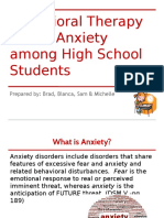 behavior therapy and anxiety