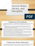2  classroom rountines policies and procedures