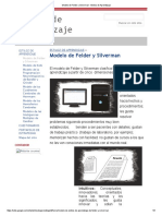 Modelo de Felder y Silverman - Estilos de Aprendizaje