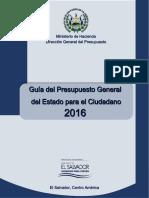 Guia de Presupuesto Para El Ciudadano 2016
