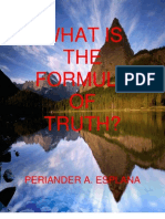 What is the Formula of Truth? by Periander A. Esplana