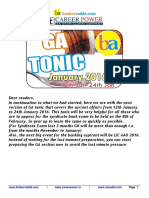 3ga Tonic From Jan 12to Jan 24