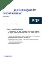 Aula 2 Gadamer Problemas Epistemologicos Das Ciencias Humanas
