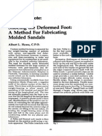 Shoeing the Deformed Foot a Method for Fabricating Molded Sandals