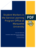 student workers in the service learning program office at marquette university-final