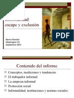 Informalidad- Escape y Exclusión