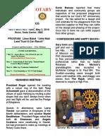 Moraga Rotary Newsletter - April 26 2016