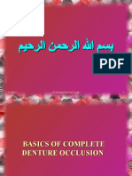 Basics of Complete Denture Occlusion