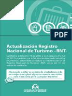 Guía 39. Actualización Registro Nacional de Turismo