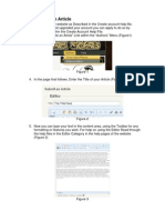 How to write an artcle