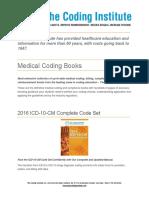 TCI Medical Coding Books