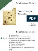 Conceptos Generales Proyecto de Tesis y Tesis