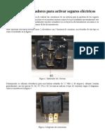 Conexión de Relevadores Para Activar Seguros Eléctricos