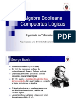 Algebra Booleana y Compuertas Lógicas, AND, OR, NOT