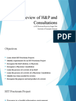 review of h p and consulations power point