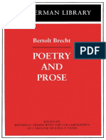 Brecht, Bertolt - Poetry and Prose (Continuum, 2003)