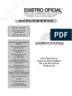 Ley para el Equilibrio de las Finanzas Públicas S RO No 744 29/04/2016