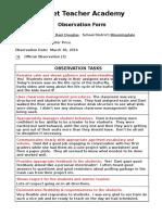 danielle douglas - observation form 3
