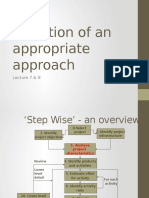 Lecture 7 & 8 - Selection of an Appropriate Approach