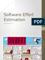 Lecture 9 & 10 - Effort Estimation