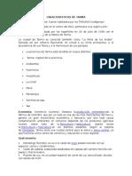 Características de la Ciudad  Tarma - Peru