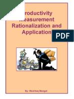 Productivity Measurement Rationalization and Application