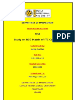 BCG MATRIX OF LIC  BY------HAZIQ MUSHTAQ