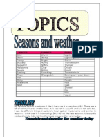 Topics -Seasons and weather- 9 pages