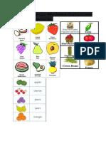 muestra al grupo diferentes ilustraciones de frutas y verduras
