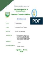 Informe 01 ( Aceite Salicilico )