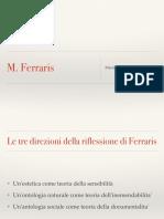Ferraris, Manifesto