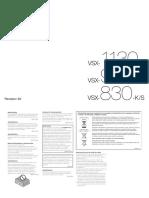VSX 930 K Manual