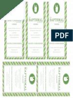 Baptismal Covenant bookmark
