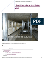 Inspection and Test Procedures for Metal-Enclosed Busways _ EEP