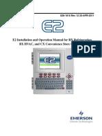 User manual Emerson for RACKs UNITS PDF 026 1610 E2 User Manual Rev12
