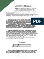 Tonalidad y Modalidad Musicales