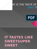 What is the Taste of Oreo