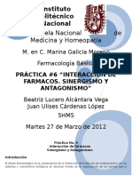 Practica No. 6 Interaccion de Farmacos