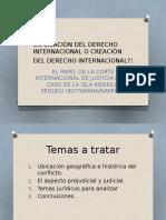 Aplicación Del Derecho Internacional ppt.