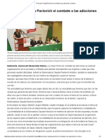 21-04-16 Promueve Claudia Pavlovich el combate a las adicciones en Sonora. -El Observador